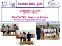 Rencontre BabyGym Parents/Enfants 15.04.18 ACC